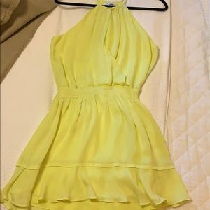 Lime colored cocktail dress